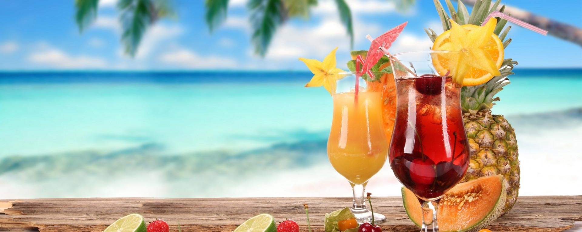Free beverages on the Caribbean Islands