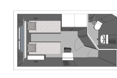 1 single bed main deck