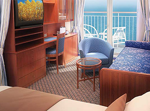 Aft-Facing Mini-Suite with Balcony