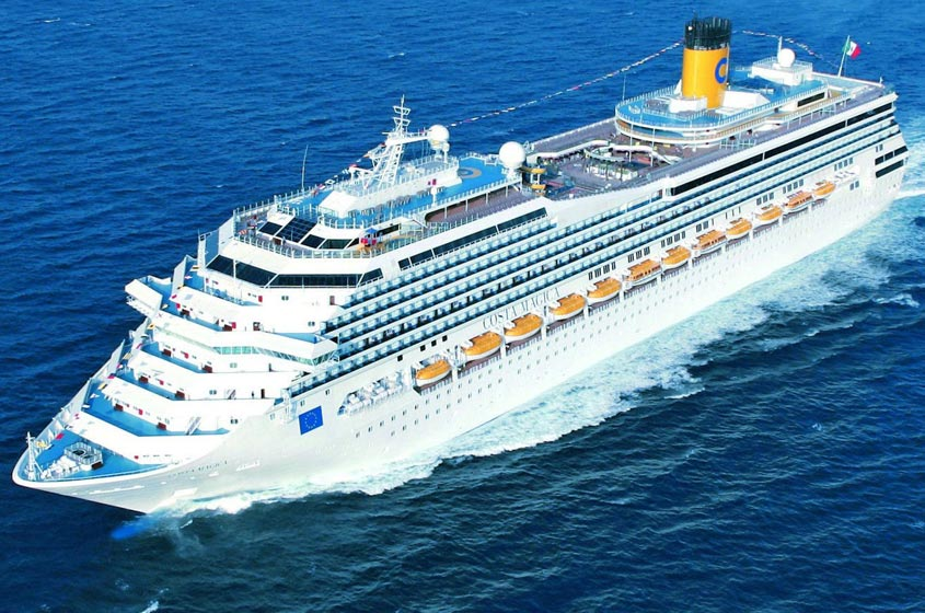 ship costa magica 272 00 m long can accommodate up to 3470